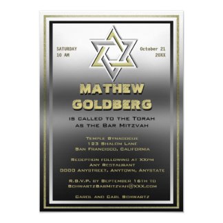 Zilveren en Gouden Barmitzvah Kaart