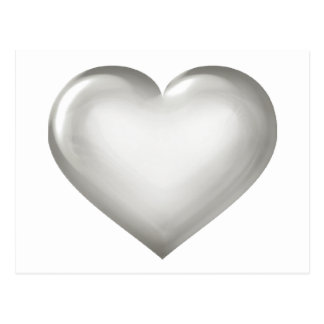 Zilveren glashart wens kaarten
