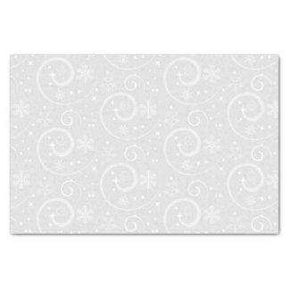 Zilveren sneeuwvlokachtergrond tissuepapier