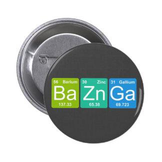 Zn GA de Ba ! Bouton d'éléments de Tableau périodi Badge Rond 5 Cm