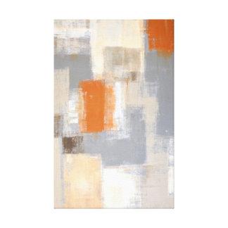 """""""Zo Uniek"""" Oranje en Beige Abstract Art. Canvas Afdrukken"""
