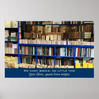 Zo Vele Boeken zo Weinig Tijd Poster