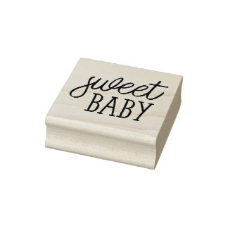 Zoet Baby, Baby shower Rubberstempel