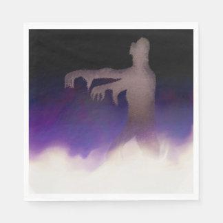 Zombi dans la brume serviette en papier