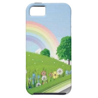 zomer-landschap-vector iPhone 5 Case-Mate hoesjes