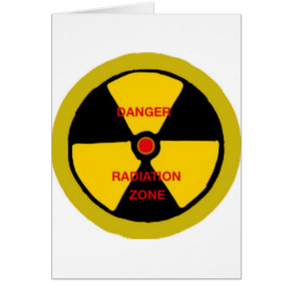 Zone de rayonnement carte de vœux