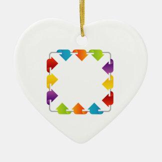 Zone de texte avec des flèches ornement cœur en céramique