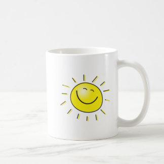Zonnige dag, het glimlachen zon, Dag om te Koffiemok