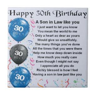 30ste Verjaardag Tegeltjes Zazzle Be