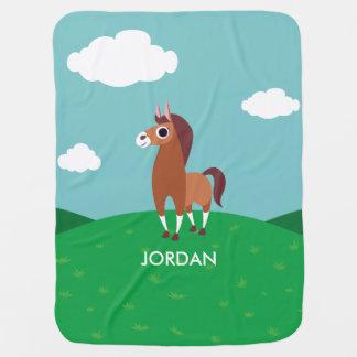 Zora le cheval couverture pour bébé