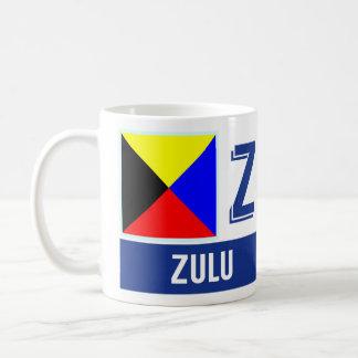 """Zoulou nautique de l'alphabet """"Z"""" de drapeaux Mug Blanc"""
