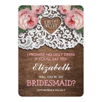 Zult u mijn Bruidsmeisje zijn? het Bruidsmeisje Kaart