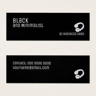 zwart en minimalistisch DJ Mini Visitekaartjes