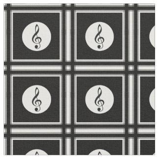 Zwart g-sleutelpatroon stof