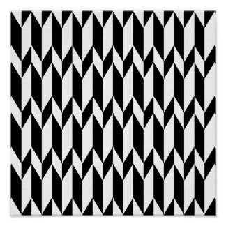 Zwart-wit Abstract Grafisch Patroon Poster