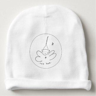 Zwart-wit t-shirt hee beanie baby mutsje