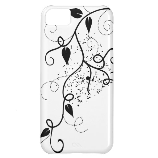 Zwart & wit vector de taksilhouet van de klimopwer iPhone 5C cover
