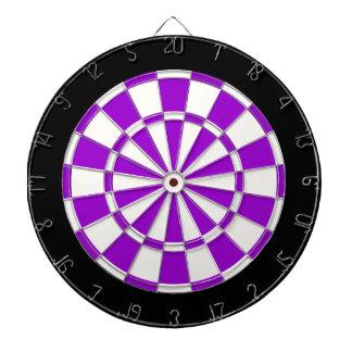 Zwart-wit viooltje dartbord