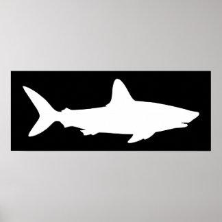 Zwart-witte Haai Poster