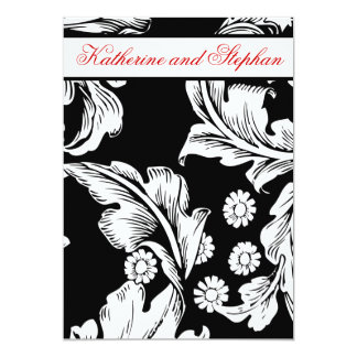 zwart-witte huwelijksverjaardag 12,7x17,8 uitnodiging kaart