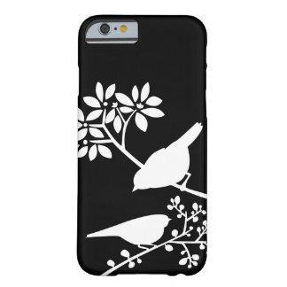 Zwart-witte iPhone 6 van de Douane van Vogels hoes