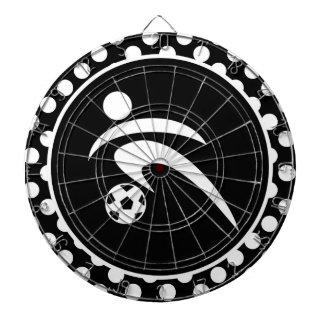 Zwart-witte Stippen; Voetbal Dartbord