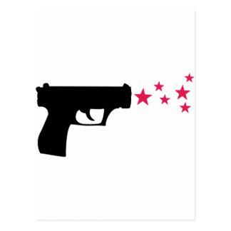 zwarte het pistoolsterren van de pistoolster wenskaart