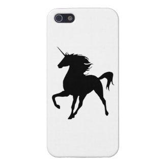 Zwarte iPhone 5 van het Silhouet van de Eenhoorn iPhone 5 Hoesje