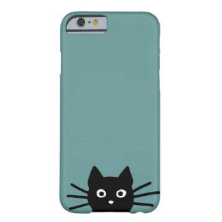 Zwarte Kat op Blauw (de Kleur is Klantgericht) Barely There iPhone 6 Hoesje