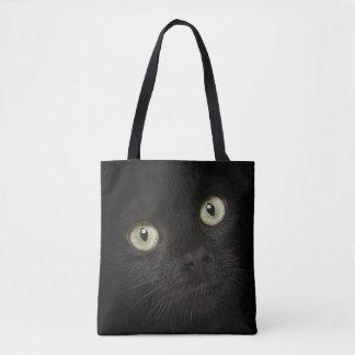 Zwarte kattenzak draagtas