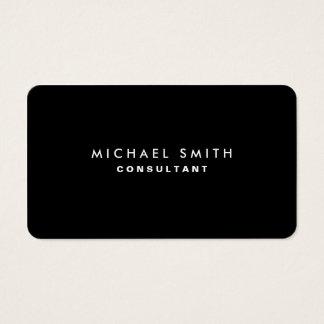 Zwarte Professionele Elegante Moderne Duidelijke Visitekaartjes