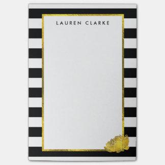 Zwarte Streep & de Gouden Nota's van de Pioen Post-it® Notes