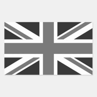 Zwarte & Witte Britse Vlag Rechthoek Stickers