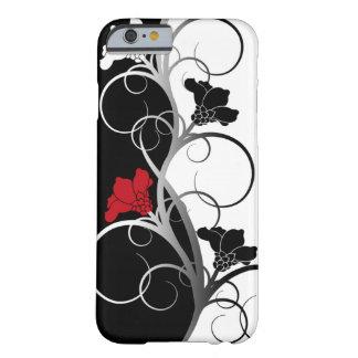 Zwarte/Witte iPhone 6 van Bloemen hoesje Barely There iPhone 6 Hoesje
