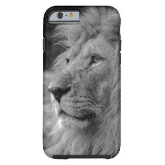 Zwarte & Witte Leeuw - Wild Dier Tough iPhone 6 Hoesje