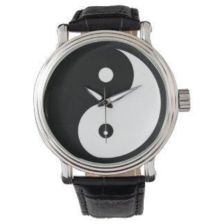 zwarte/witte taoist yin-Yang Polshorloges
