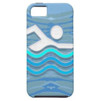 ZWEM het Succes van de Zwemmer duiken het Succes Tough iPhone 5 Hoesje